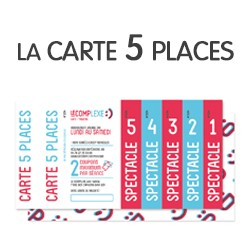 Carte 5 places