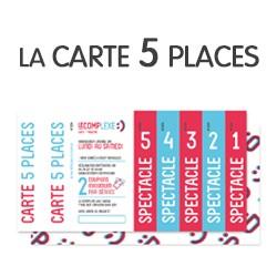 Carte 5 places envoi ou retrait sur place